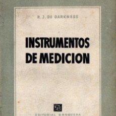 Radios antiguas: DARKNESS : INSTRUMENTOS DE MEDICIÓN (BRUGUERA, 1951). Lote 63554348
