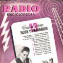 Radios antiguas: RADIOENCICLOPEDIA Nº 13 . CONDENSADORES FIJOS Y VARIABLES (BRUGUERA, 1945). Lote 72595053