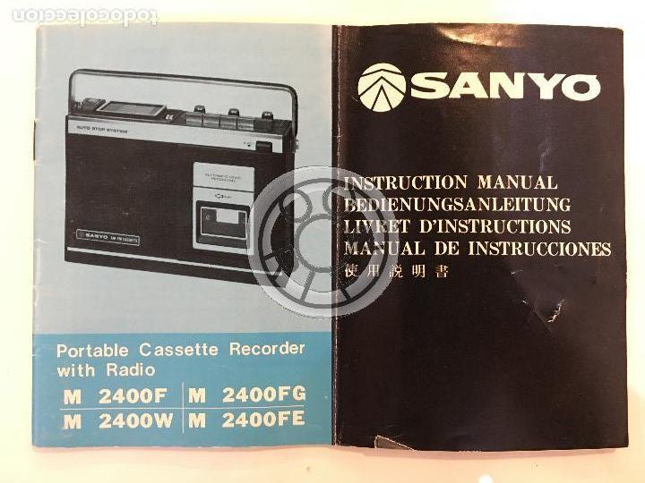 MANUAL DE INSTRUCCIONES DE RADIO,CASSETTE SANYO, 5 IDIOMAS (Radios, Gramófonos, Grabadoras y Otros - Catálogos, Publicidad y Libros de Radio)