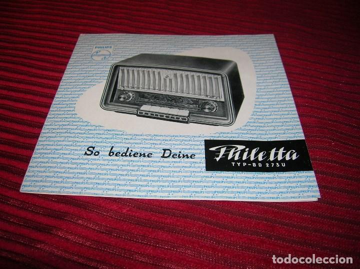 TRÍPTICO ANUNCIANDO PHILIPS RADIO. (Radios, Gramófonos, Grabadoras y Otros - Catálogos, Publicidad y Libros de Radio)