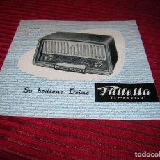 Radios antiguas: TRÍPTICO ANUNCIANDO PHILIPS RADIO.. Lote 64101247