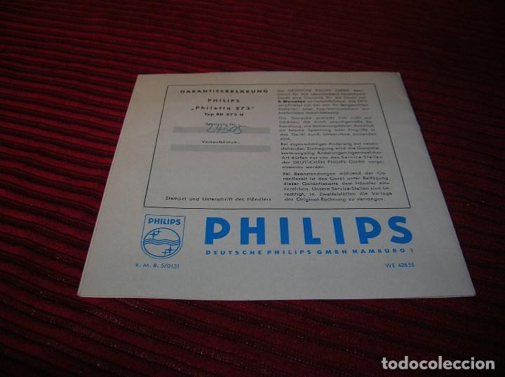 Radios antiguas: Tríptico anunciando Philips radio. - Foto 2 - 64101247