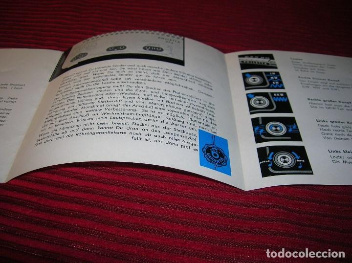 Radios antiguas: Tríptico anunciando Philips radio. - Foto 3 - 64101247