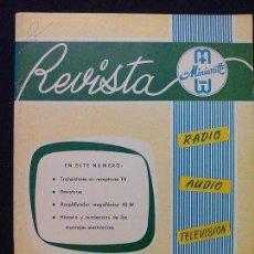 Radios antiguas: REVISTA MINIWATT - MAYO 1963 -. Lote 64124375