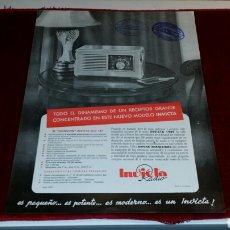 Alte Radios - Cartel publicidad casa de radio invicta modelo del año 1949 - 64307569