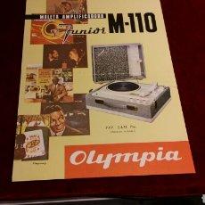 Radios antiguas: PUBLICIDAD OFICIAL TOCADISCOS OLYMPIA. Lote 64316625