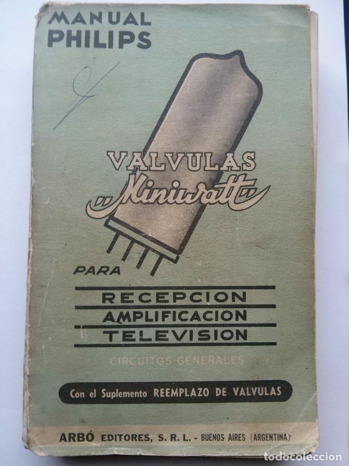 VALVULAS MINIWATT - MANUAL PHILIPS . 1957 (Radios, Gramófonos, Grabadoras y Otros - Catálogos, Publicidad y Libros de Radio)