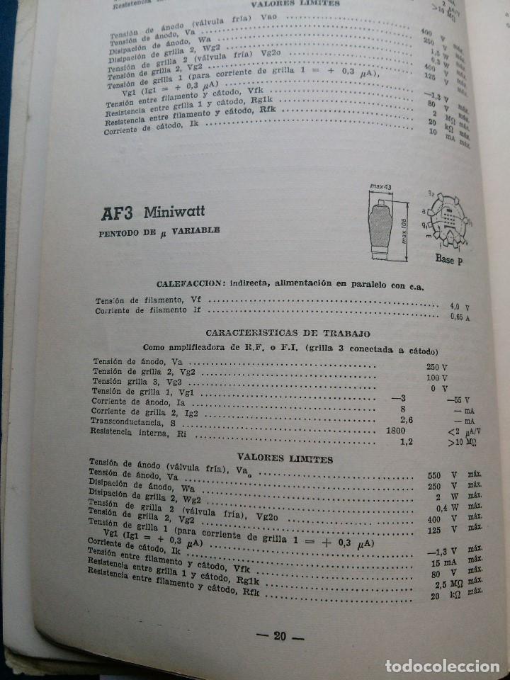 Radios antiguas: VALVULAS MINIWATT - MANUAL PHILIPS . 1957 - Foto 3 - 64420003