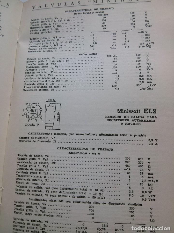 Radios antiguas: VALVULAS MINIWATT - MANUAL PHILIPS . 1957 - Foto 4 - 64420003