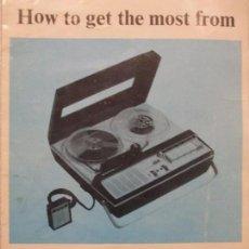 Radios antiguas: FOLLETO INSTRUCCIONES EN INGLES - SANYO TAPE RECORDER - MR130. Lote 65308567