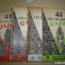 Radios antiguas: 48 LECCIONES DE RADIO. JOSE SUSMANSCKY.. Lote 65660150