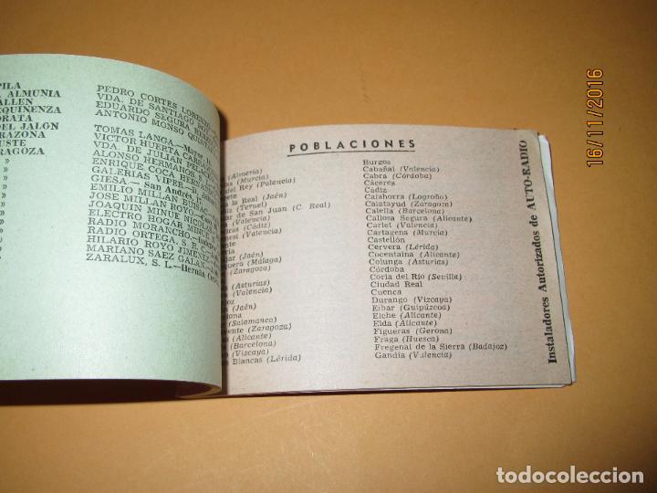 Radios antiguas: Antiguo Catalogo Lista Oficial de Estaciones de Servicio PHILIPS del Año 1963 - Foto 2 - 67063086