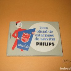 Radios antiguas: ANTIGUO CATALOGO LISTA OFICIAL DE ESTACIONES DE SERVICIO PHILIPS DEL AÑO 1963. Lote 67063222