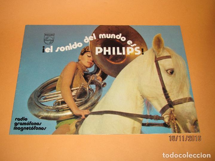 ANTIGUO CATÁLOGO DE SONIDO PHILIPS AÑO 1971 RADIOS TOCADISCOS EQUIPOS DE MÚSICA MAGNETÓFONOS (Radios, Gramófonos, Grabadoras y Otros - Catálogos, Publicidad y Libros de Radio)