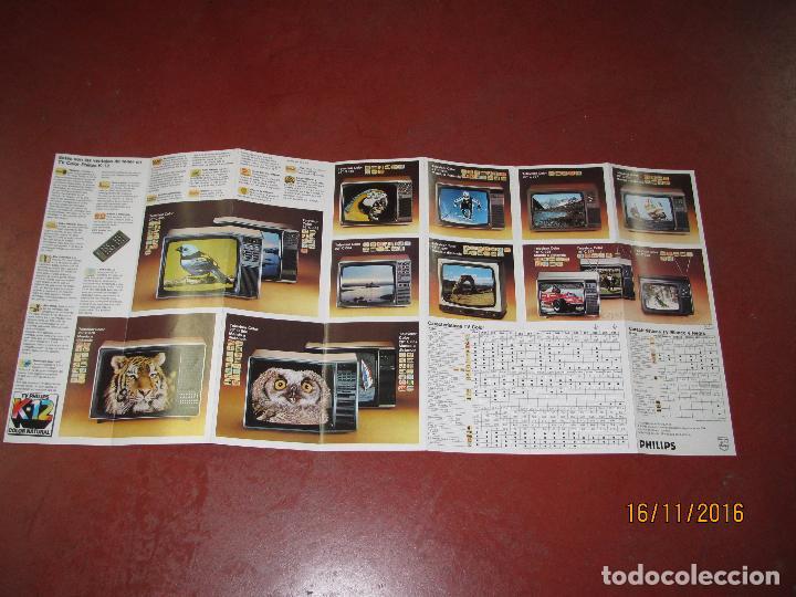 Radios antiguas: Antiguo Catálogo General Desplegable VIDEORAMA de PHILIPS Año 1970s. - Foto 2 - 67064614