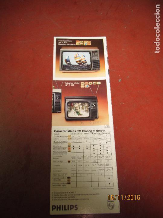 Radios antiguas: Antiguo Catálogo General Desplegable VIDEORAMA de PHILIPS Año 1970s. - Foto 4 - 67064614