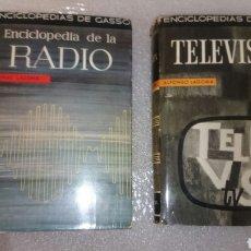 Radios antiguas: ENCICLOPEDIA DE LA RADIO Y TELEVISION DOS LIBROS. Lote 67933335