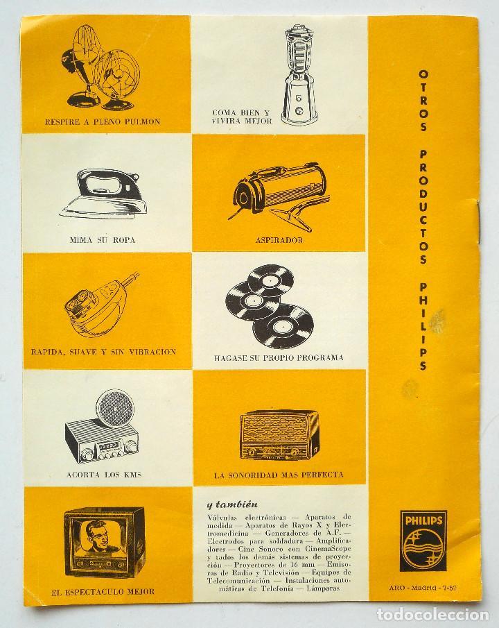 Radios antiguas: CATÁLOGO INSTRUCCIONES DEL TOCADISCO RADIO PHILIPS H5E 74ª + LISTA ESTACIONES SERVICIO - Foto 4 - 68449149