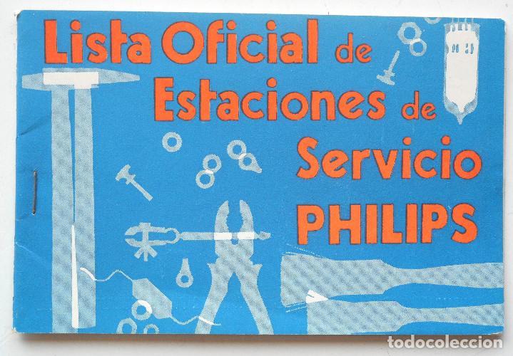 Radios antiguas: CATÁLOGO INSTRUCCIONES DEL TOCADISCO RADIO PHILIPS H5E 74ª + LISTA ESTACIONES SERVICIO - Foto 5 - 68449149