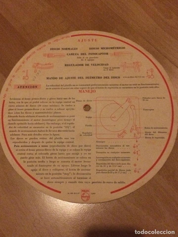 INSTRUCCIONES CAMBIADISCOS TOCADISCOS PHILIPS 2508 (Radios, Gramófonos, Grabadoras y Otros - Catálogos, Publicidad y Libros de Radio)