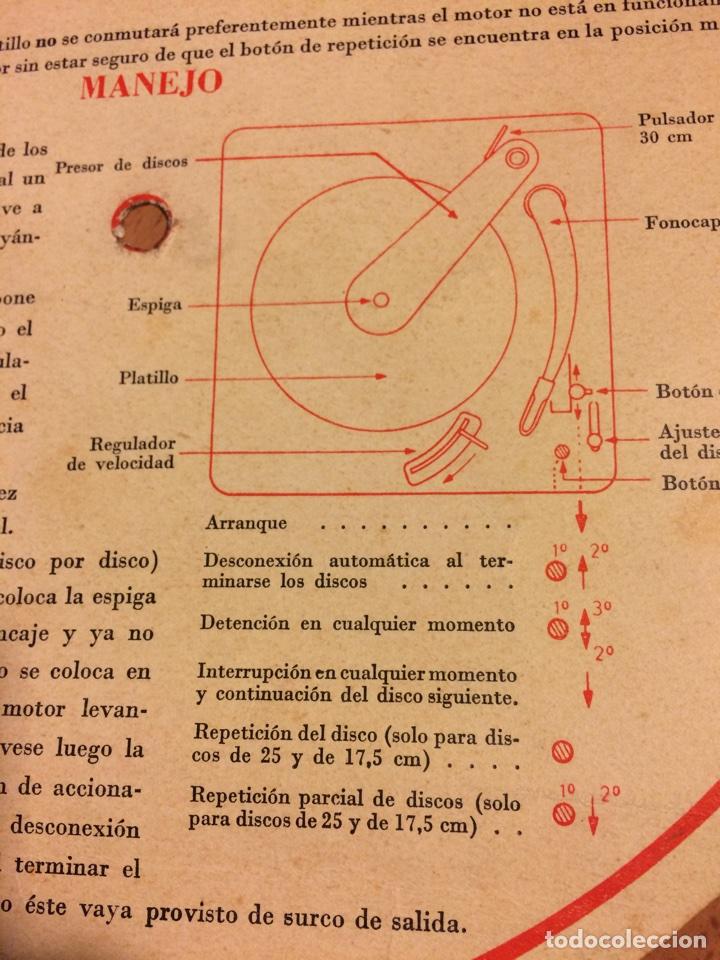 Radios antiguas: Instrucciones cambiadiscos tocadiscos philips 2508 - Foto 3 - 69776809