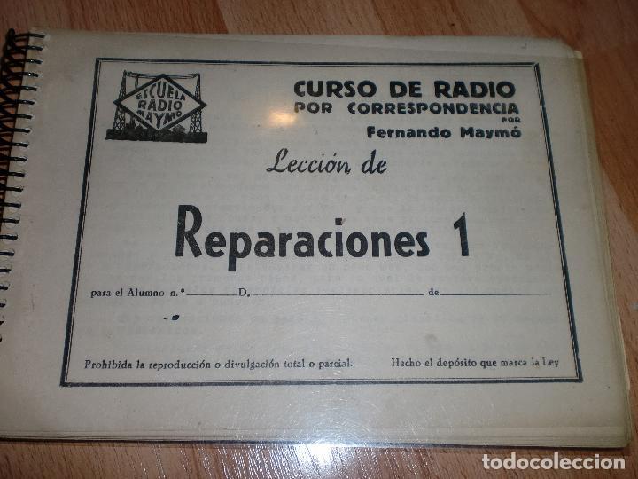Radios antiguas: MATERIAL CURSO DE RADIO MAYMO - Foto 3 - 71038125