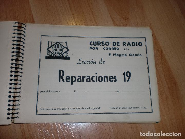 Radios antiguas: MATERIAL CURSO DE RADIO MAYMO - Foto 4 - 71038125