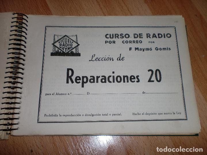 Radios antiguas: MATERIAL CURSO DE RADIO MAYMO - Foto 5 - 71038125