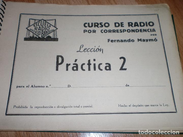 Radios antiguas: MATERIAL CURSO DE RADIO MAYMO - Foto 6 - 71038125