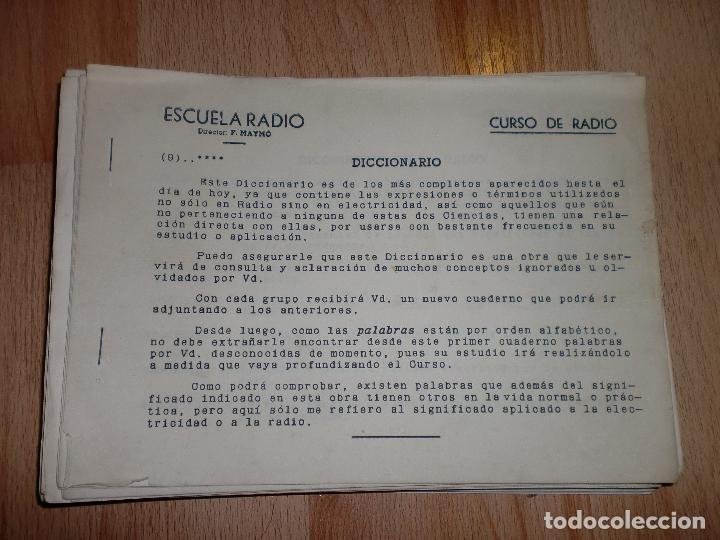 Radios antiguas: MATERIAL CURSO DE RADIO MAYMO - Foto 8 - 71038125
