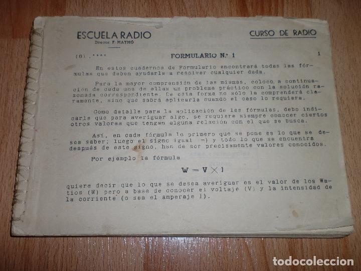 Radios antiguas: MATERIAL CURSO DE RADIO MAYMO - Foto 9 - 71038125