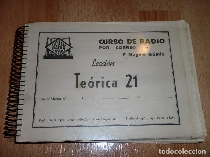 Radios antiguas: MATERIAL CURSO DE RADIO MAYMO - Foto 13 - 71038125