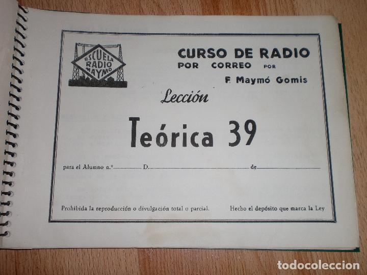 Radios antiguas: MATERIAL CURSO DE RADIO MAYMO - Foto 14 - 71038125