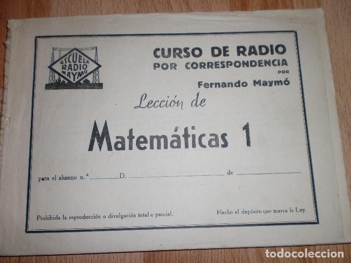 Radios antiguas: MATERIAL CURSO DE RADIO MAYMO - Foto 15 - 71038125