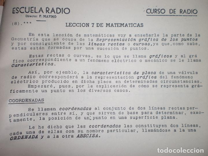 Radios antiguas: MATERIAL CURSO DE RADIO MAYMO - Foto 16 - 71038125