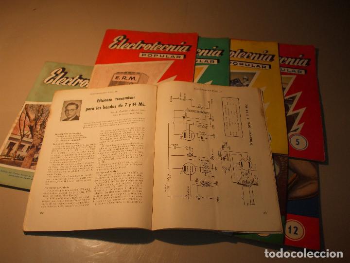 Radios antiguas: 11 FASCÍCULOS ELECTROTECNIA POPULAR ESCUELA DE RADIO MAYMÓ_RADIO AFICIONADOS - Foto 2 - 71200217