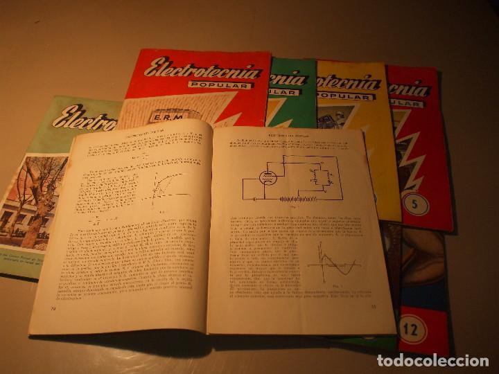 Radios antiguas: 11 FASCÍCULOS ELECTROTECNIA POPULAR ESCUELA DE RADIO MAYMÓ_RADIO AFICIONADOS - Foto 3 - 71200217