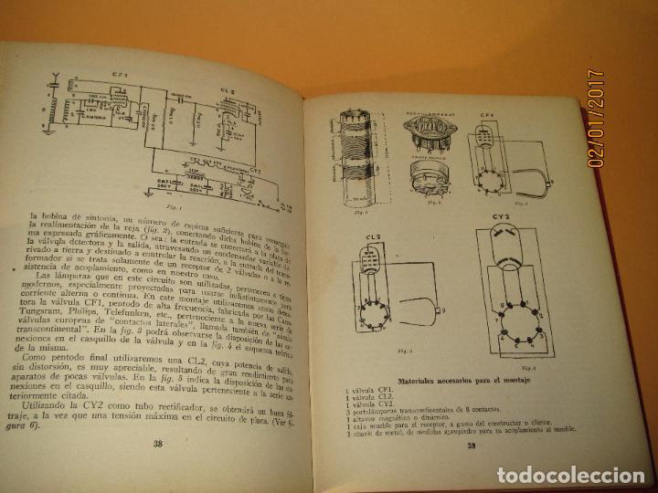 Radios antiguas: Antiguo Libro * 30 RECEPTORES DE FACIL MONTAJE* de la Editorial Bruguera - Año 1944 - Foto 4 - 71837919