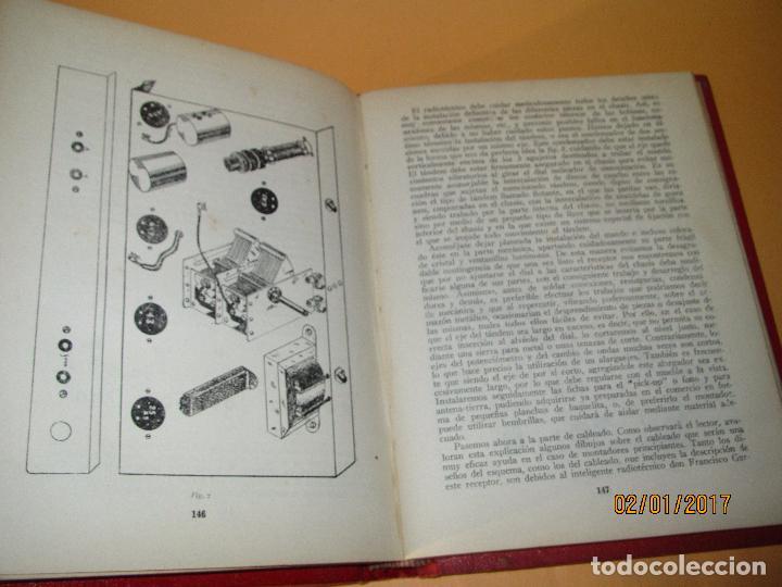 Radios antiguas: Antiguo Libro * 30 RECEPTORES DE FACIL MONTAJE* de la Editorial Bruguera - Año 1944 - Foto 7 - 71837919