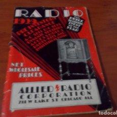 Radios antiguas: REVISTA SOBRE RADIOS. Lote 72152991