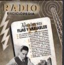 Radios antiguas: RADIOENCICLOPEDIA Nº 14 . RESISTENCIAS FIJAS Y VARIABLES (BRUGUERA, 1945). Lote 72598723