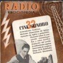 Radios antiguas: RADIOENCICLOPEDIA Nº 32 . CINE SONORO (BRUGUERA, 1946). Lote 72601447
