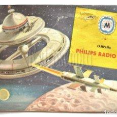 Radios antiguas: CATALOGO DE PUBLICIDAD RADIO TRANSISTOR TOCADISCOS TELEVISOR PHILIPS CAMPAÑA 1955. Lote 139580253