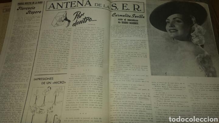 Radios antiguas: REVISTA DE RADIO SINTONIA 1SPBRE 1950. AÑO IV N°79- GRETA GYNT ( autógrafo)- CARMEN SEVILLA - Foto 5 - 76603597