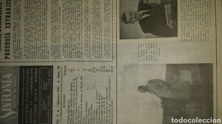 Radios antiguas: REVISTA DE RADIO SINTONIA - MARIA FELIX- AÑO V 1 FEBRERO 1951 N°89 - Foto 2 - 76604029