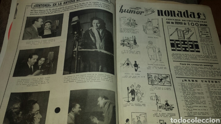 Radios antiguas: REVISTA DE RADIO SINTONIA - MARIA FELIX- AÑO V 1 FEBRERO 1951 N°89 - Foto 3 - 76604029