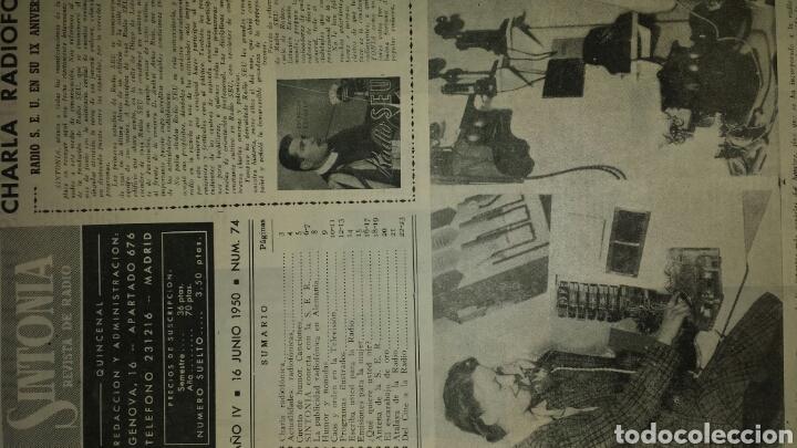 Radios antiguas: REVISTA DE RADIO SINTONIA -PASTORA PEÑA- 16 JUNIO 1950 AÑO IV N°74 - Foto 2 - 76604263