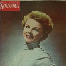Radios antiguas: REVISTA DE RADIO SINTONIA- AÑO V AGOSTO 1951 N°102 - SALLY FORREST. Lote 76603250