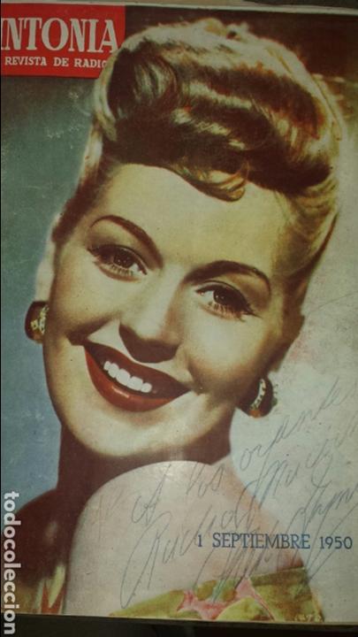 REVISTA DE RADIO SINTONIA 1SPBRE 1950. AÑO IV N°79- GRETA GYNT ( AUTÓGRAFO)- CARMEN SEVILLA (Radios, Gramófonos, Grabadoras y Otros - Catálogos, Publicidad y Libros de Radio)
