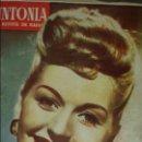 Radios antiguas: REVISTA DE RADIO SINTONIA 1SPBRE 1950. AÑO IV N°79- GRETA GYNT ( AUTÓGRAFO)- CARMEN SEVILLA. Lote 76603597